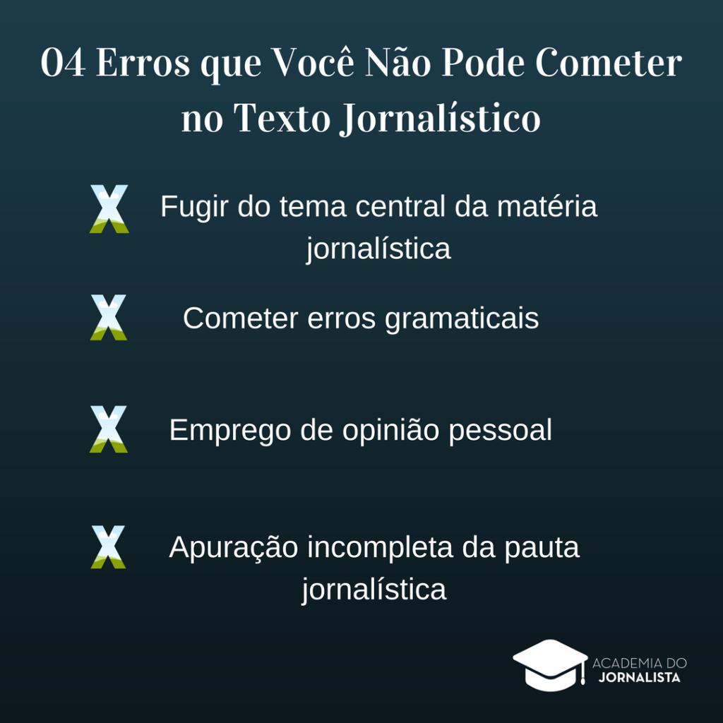 4 Erros que Você não Pode Cometer no Texto Jornalístico
