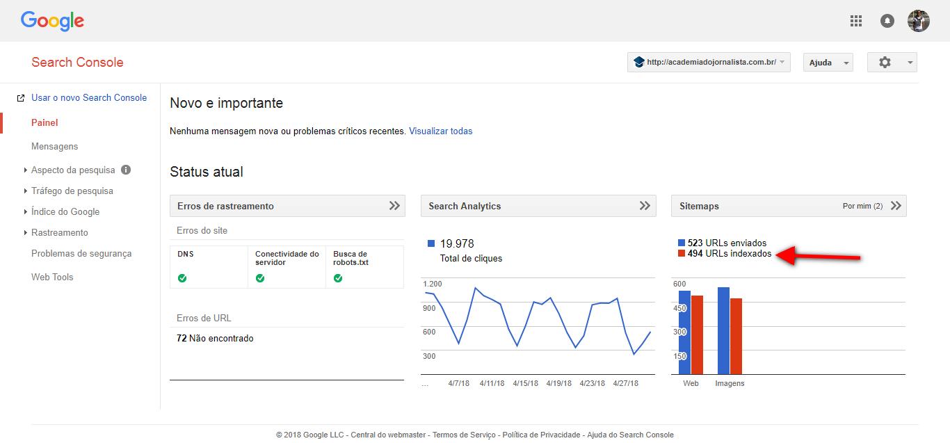 Como Ter Mais Acesso Usando o Google Search Console no Jornalismo Digital.
