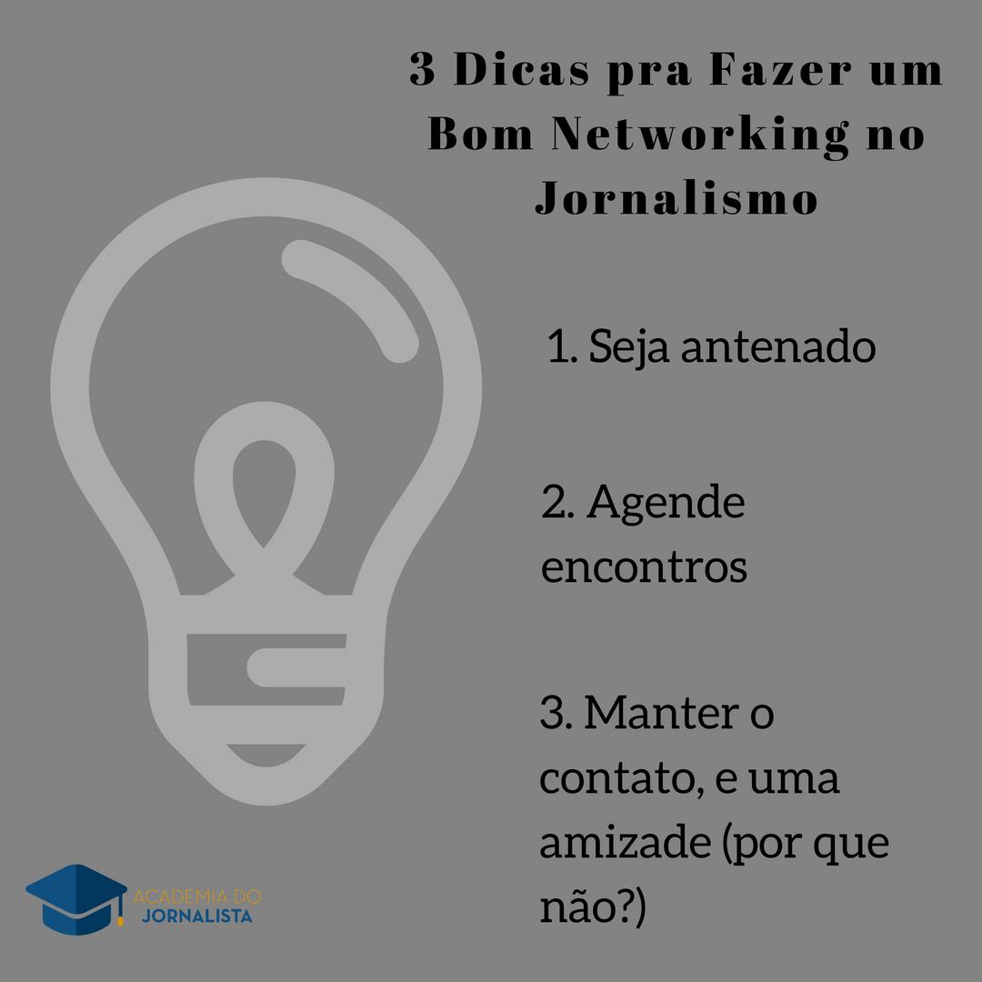 03 Dicas pra Fazer um Bom Networking no Jornalismo