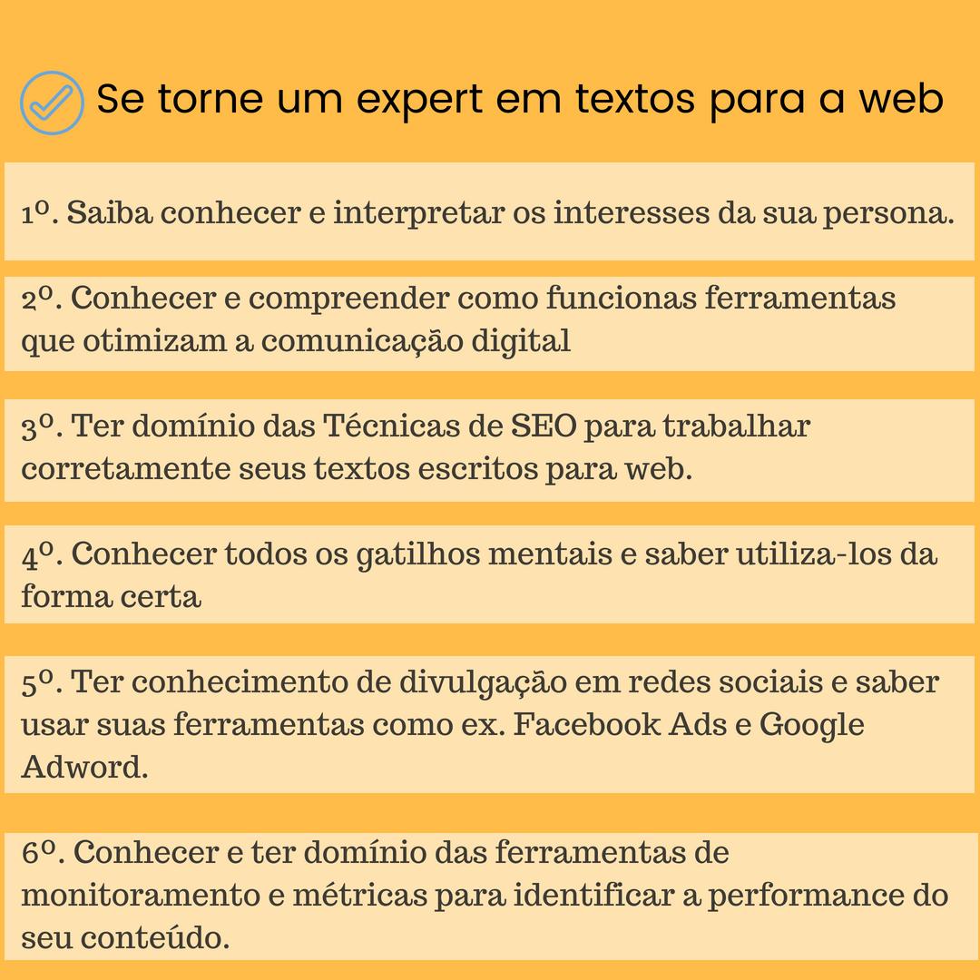 Se torne um expert em textos para a web nesse artigo