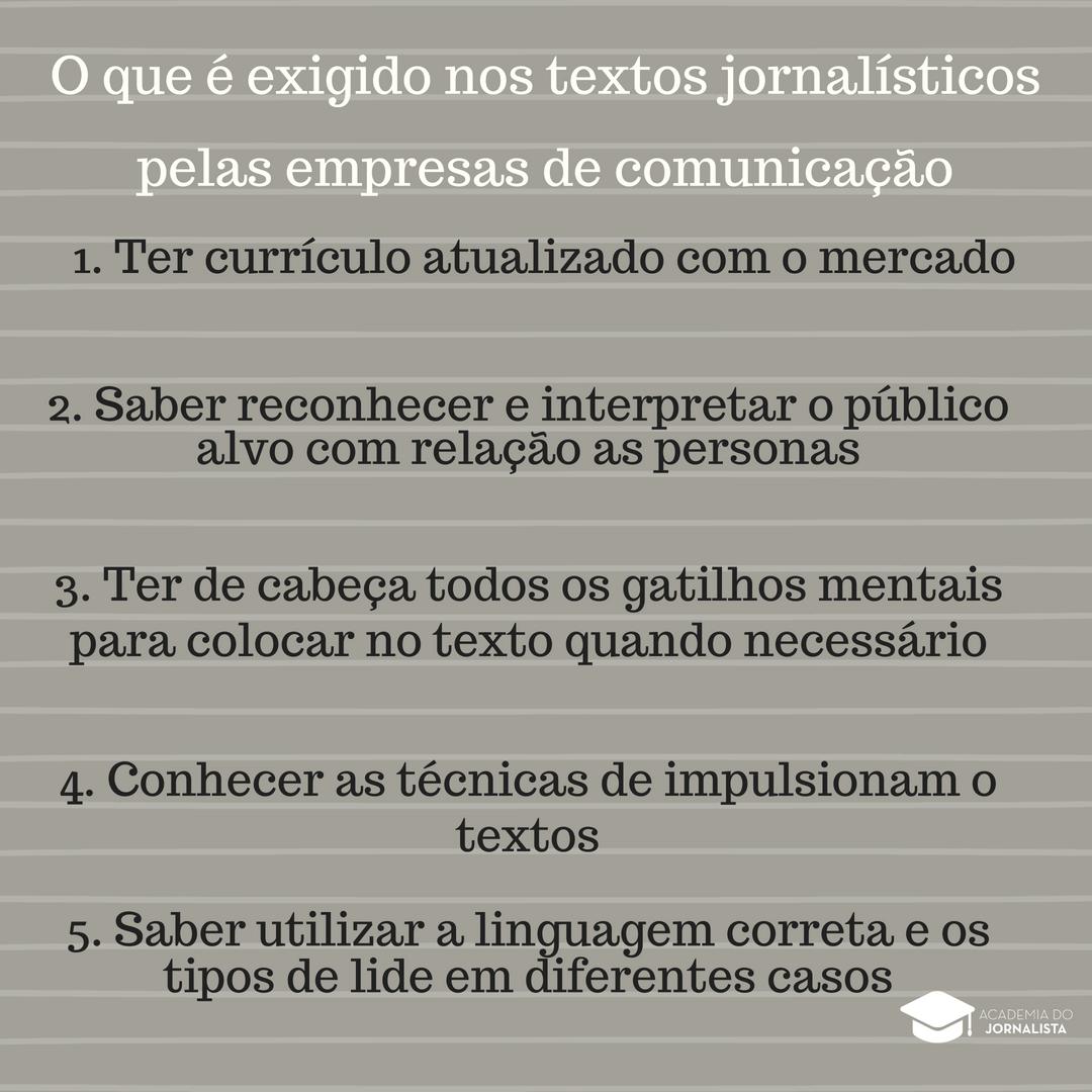 Conheça o que é Exigido nos Textos Jornalísticos nas Empresas de Comunicação