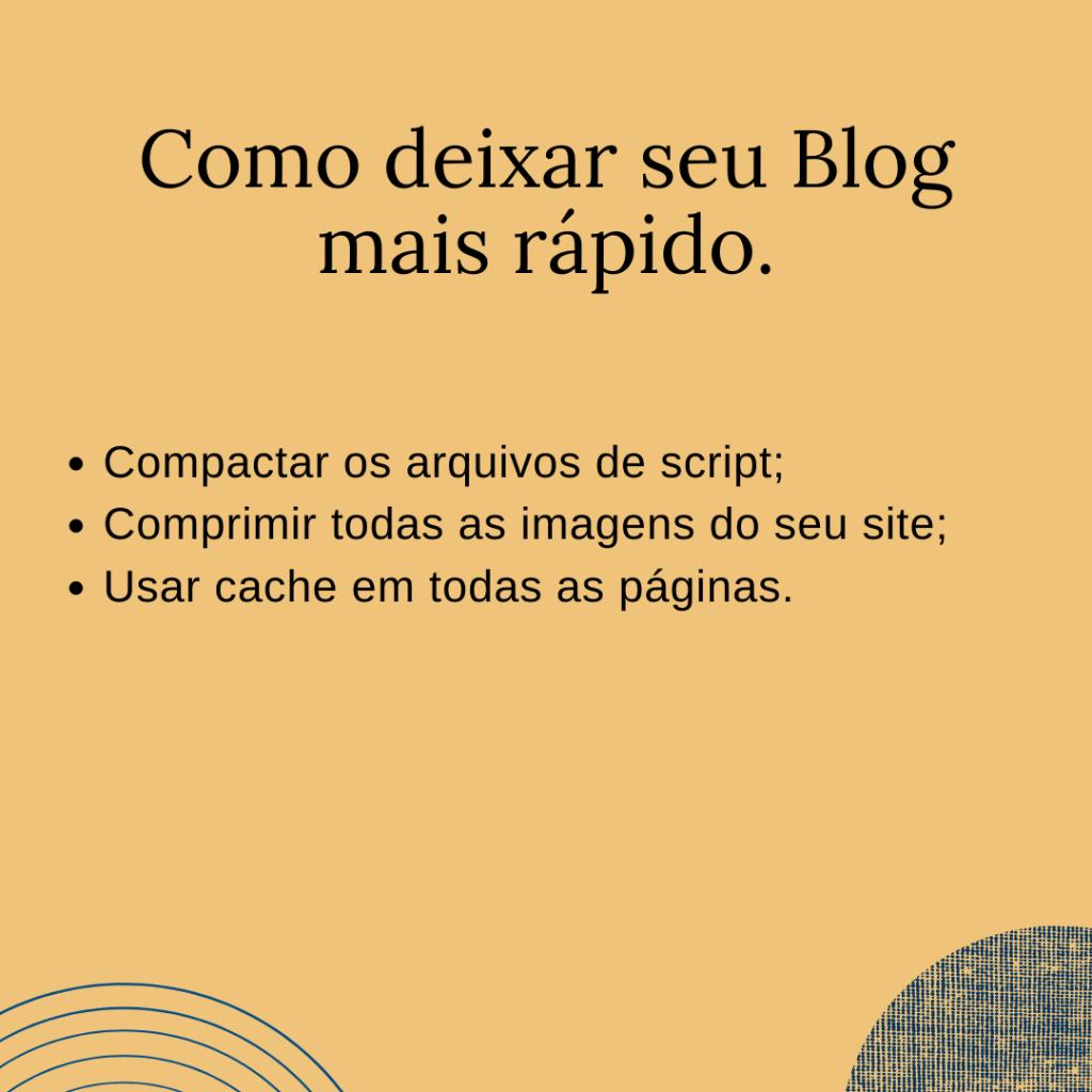 Como deixar seu Blog mais rápido