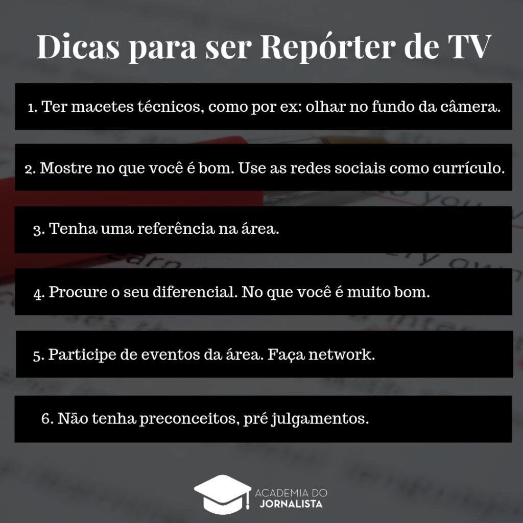 Dicas para ser Repórter de TV