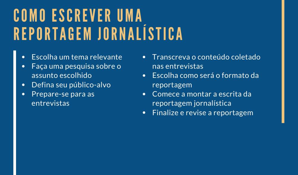 8 dicas de como escrever uma Reportagem Jornalística