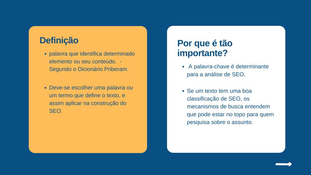 Palavras-chave: Qual a importância para o desempenho do texto
